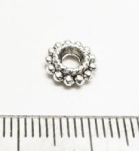 Tibetan Style Silver Dotted twist rings.x 20. 9mm.
